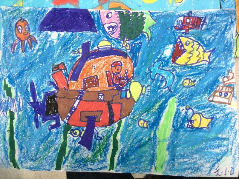 二年级科幻画作品 二图片