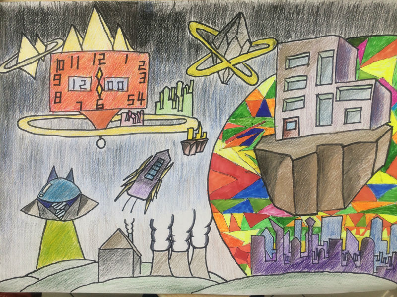大连市青少年科技创新大赛科幻画系列作品展示 一