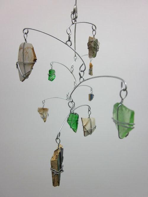 用废品制作的创意风铃