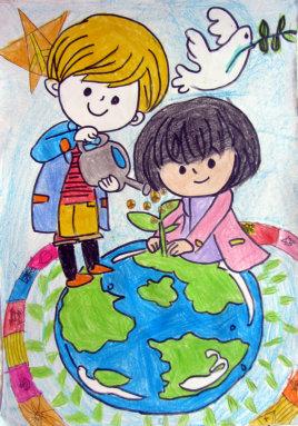 2014年国际和平海报绘画大赛优秀作品 一