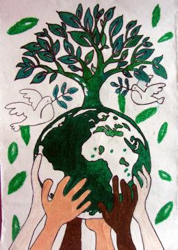 2014年国际和平海报绘画大赛优秀作品(一)