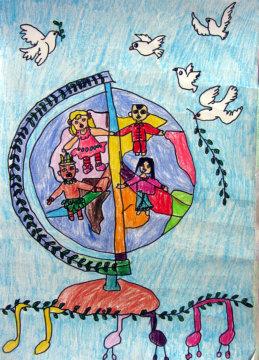 2014年国际和平海报绘画大赛优秀作品 二